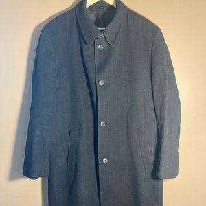Hugo Boss wool cashmere blend striped coat